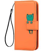 Чехол-книжка Animal Wallet для Samsung Galaxy A8s Frog