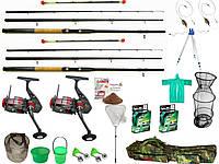 Рыболовный фидерный набор, KAIDA, фидерное удилище с катушкой, Комплекты фидерные, Фидерное удилище наборы!