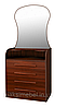 Комод с зеркалом Барклей МАКСИ-МЕбель (4 ящика), ручка-МДФ Экстра