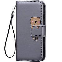 Чехол-книжка Animal Wallet для Samsung Galaxy A8s Bear