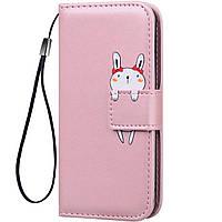 Чехол-книжка Animal Wallet для Samsung Galaxy A8s Rabbit