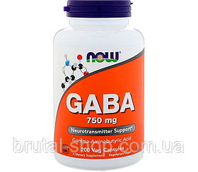 NOW Foods GABA 750mg (200caps)