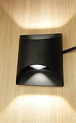 Бра светодиодное настенный LED светильник В1262 с двойным свечением (вверх - вниз) черный