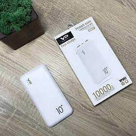 Повербанк Power Bank Портативный аккумулятор Powerbank 2USB Павер бенк Повер банк Veron Белый 10000 mAh