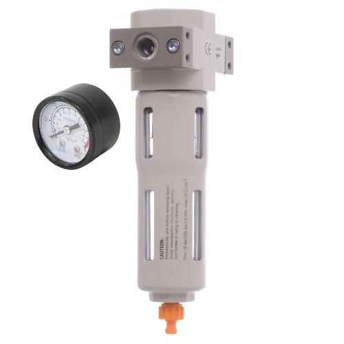 """Фільтр-регулятор з індикатором тиску для пневмосистеми 1/4"""""""