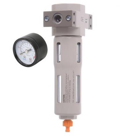 """Фільтр-регулятор з індикатором тиску для пневмосистеми 1/4"""", фото 2"""