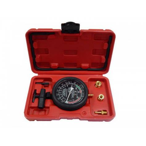 Тестер давления топлива и вакуума в комплекте с резьбовыми адаптерами-переходниками, в кейсе, фото 2