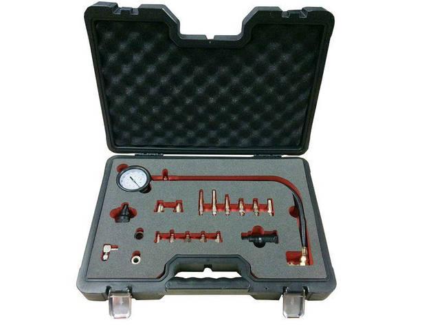 Тестер компресії дизельного двигуна, 19пр. (М18х1.5мм, М24х2.0мм, М24х1.5мм, М10х1.0х68мм, М10х1.25х54мм, М, фото 2