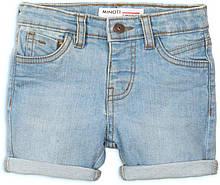 Светлые детские джинсовые шорты для мальчика 9-12мес, 74-80 см Minoti