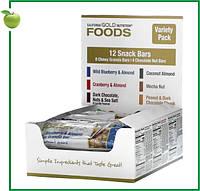 California Gold Nutrition, Foods, Ассорти батончиков-снеков, 12 шт. по 40 г (1,4 унции), США