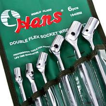 Набір ключів карданних 6 пр.стрічка (16406М) HANS