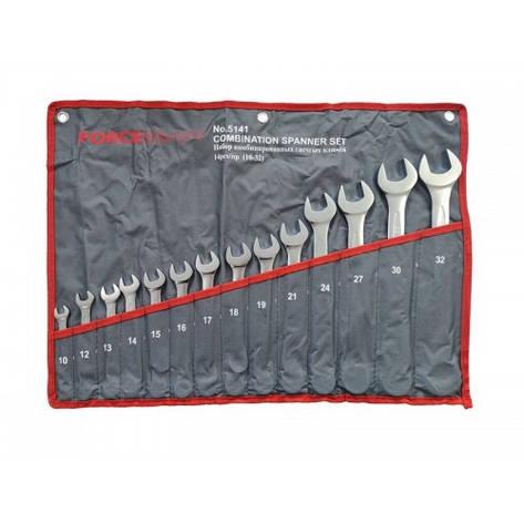 Набор ключей комбинированных 14пр. (10, 12-19, 21, 24, 27, 30, 32мм) на полотне, фото 2