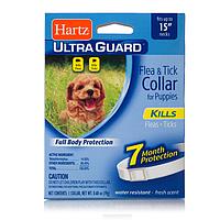 Hartz (Харц) Ultra Guard Ошейник от блох и клещей для щенков 38 см белый Н80478