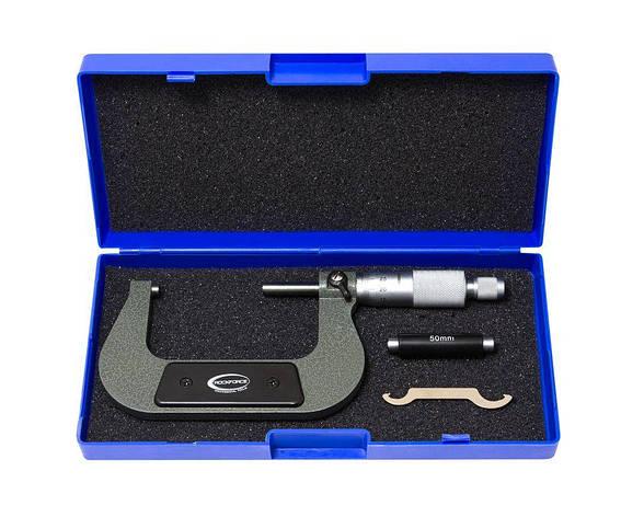 Мікрометр (50-75мм, 0.01 мм), в пластиковому футлярі, фото 2