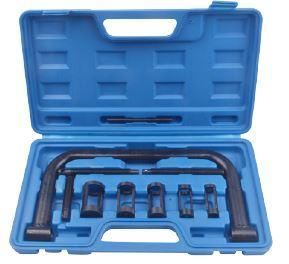 Рассухариватель клапанів струбцинного типу 10пр., (змінні штовхачі: 16, 19, 23, 25, 30мм), в кейсі