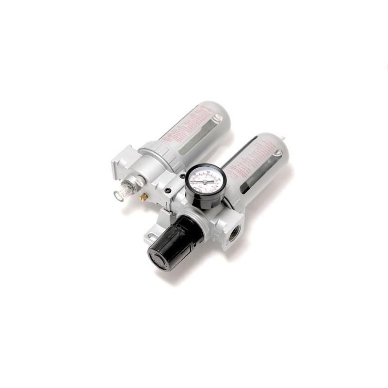 """Блок підготовки повітря пневмосистеми 1/2""""(фільтр+лубрикатор,діапазон 0-10bar температура 5-60С 10Мк)"""