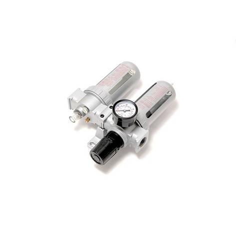 """Блок підготовки повітря пневмосистеми 1/2""""(фільтр+лубрикатор,діапазон 0-10bar температура 5-60С 10Мк), фото 2"""