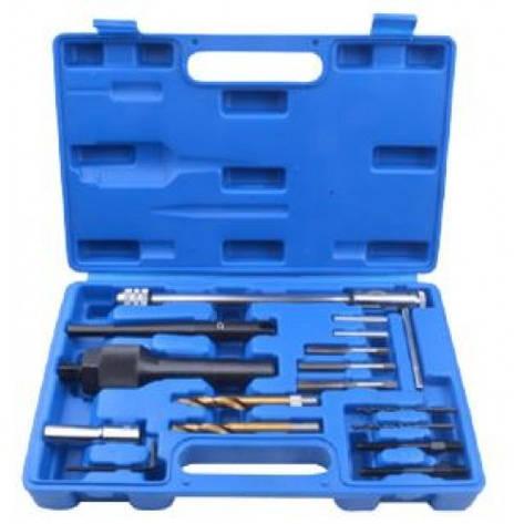 Набір інструментів для вилучення свічок розжарювання і реставрації різьблення, в кейсі, фото 2