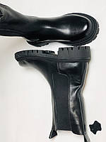 Женские осенние высокие ботинки Челси. Из натуральной кожи на низкой подошве. Р 36.38.40, фото 5