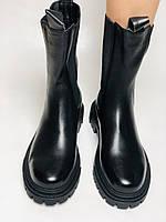 Турецькі жіночі осінні черевики Челсі. На низькій підошві. Натуральна шкіра. Stella Morzettу. Р 36 38.39 40, фото 6