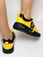 Farinni.Стильні жіночі кеди-білі кросівки.Натуральна шкіра. Висока якість 38 Vellena, фото 5
