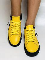 Farinni.Стильні жіночі кеди-білі кросівки.Натуральна шкіра. Висока якість 38 Vellena, фото 4
