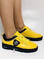 Farinni.Стильні жіночі кеди-білі кросівки.Натуральна шкіра. Висока якість 38 Vellena, фото 8