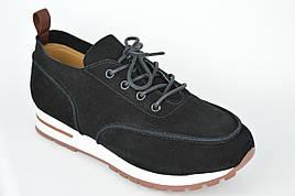 Кроссовки женские Lonza 8801 41 Черный замша