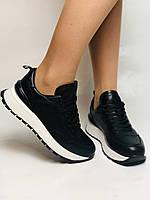 Farinni. Натуральная кожа. Женские черные кеды-кроссовки на белой подошве. Размер 36.37.39., фото 2