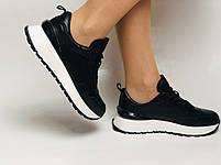 Farinni. Натуральная кожа. Женские черные кеды-кроссовки на белой подошве. Размер 36.37.39., фото 3