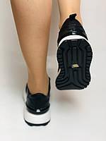 Farinni. Натуральная кожа. Женские черные кеды-кроссовки на белой подошве. Размер 36.37.39., фото 8