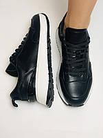 Farinni. Натуральная кожа. Женские черные кеды-кроссовки на белой подошве. Размер 36.37.39., фото 9