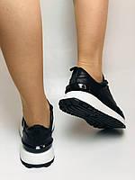 Farinni. Натуральная кожа. Женские черные кеды-кроссовки на белой подошве. Размер 36.37.39., фото 7