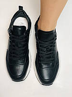 Farinni. Натуральная кожа. Женские черные кеды-кроссовки на белой подошве. Размер 36.37.39., фото 10