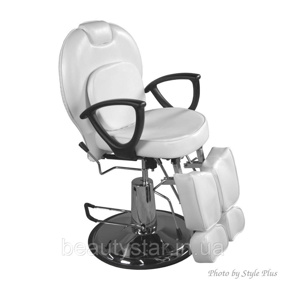 Крісло для педикюру на гідравліці з роздільними ногами і подушкою Педикюрне крісло ZD-346