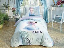 Набор детского постельного белья TAC Frozen2 DColor Elsa Ранфорс / простынь на резинке+двойной рисунок
