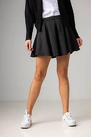 Короткая юбка-солнце в черном и белом цвете в размерах: S, M, L, XL.