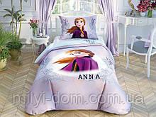 Набор детского постельного белья TAC Frozen2 DColor Анна Ранфорс / простынь на резинке+двойной рисунок