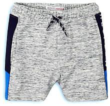 Детские хлопковые серые шорты для мальчика 3-4 года, 98-104 см Minoti