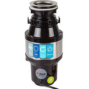 Кухонный измельчитель пищевых отходов Bort MASTER ECO с защитой от перегрузок 390Вт 1,0л 3,2кг/мин