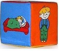 Кубик-ткань погремушка Дети-действия  (Ч )