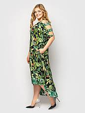 Сукня для повних дівчат на літо чорна з квітами, фото 2