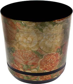 Горщик квітковий пластиковий d210мм-30,v-6,5 л золоті квіти(10)