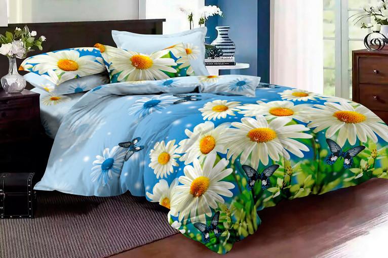 Двуспальный комплект постельного белья евро 200*220 ранфорс  (16599) TM KRISPOL Украина