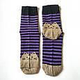 Носки женские в синюю полоску мордочки котика на пятках и носках размер 37-41, фото 4