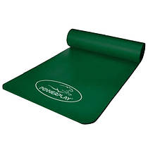 Коврик для йоги і фітнесу PowerPlay 4151 NBR 183*61*1.5 см Зелений