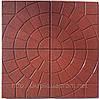 Резиновая тротуарная плитка с узорами из крошки