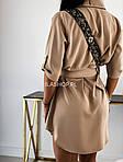 Женское платье - рубашка, супер - софт, р-р 42; 44-46 (бежевый), фото 5