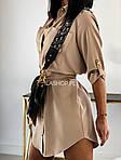 Женское платье - рубашка, супер - софт, р-р 42; 44-46 (бежевый), фото 2