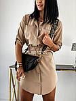 Женское платье - рубашка, супер - софт, р-р 42; 44-46 (бежевый), фото 3